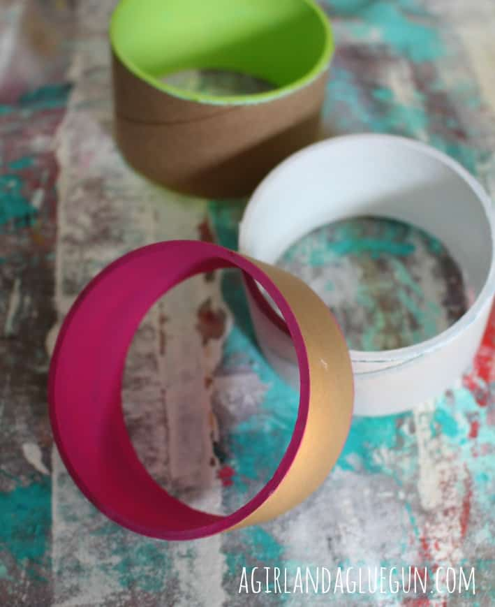 floral bracelets--paint the inside of the cuff