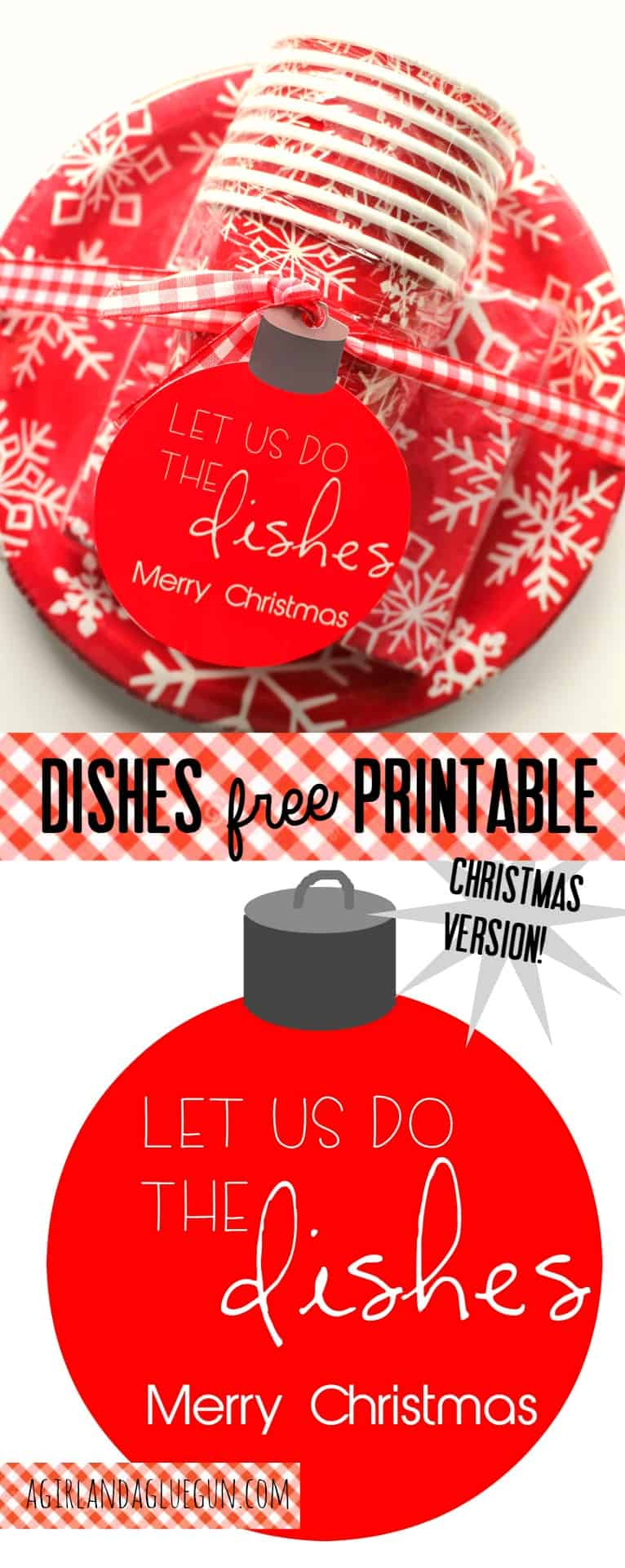 let us help with the dishes. christmas neighbor gift idea!