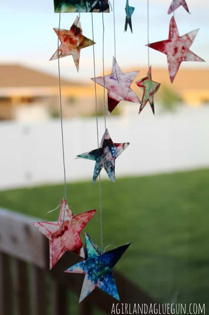 melted crayons suncatcher summer survival
