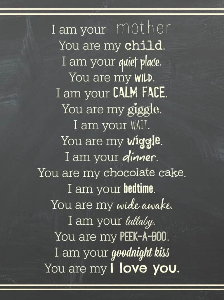mother poem printable