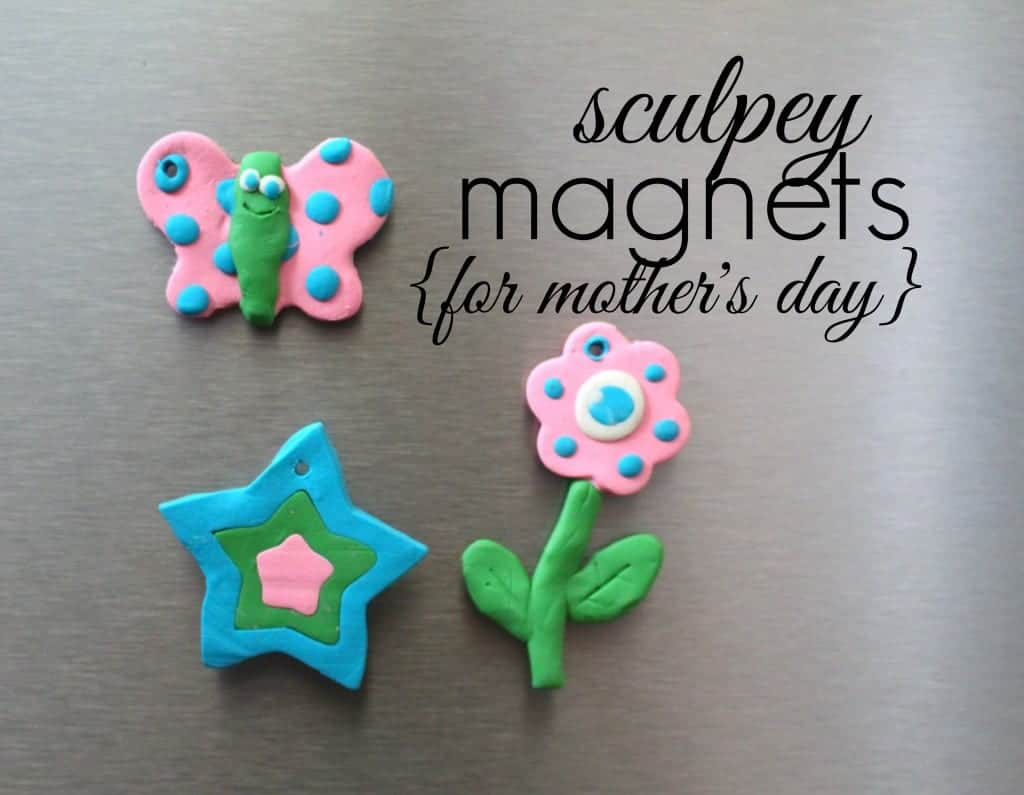 sculpey magnets for mothers day