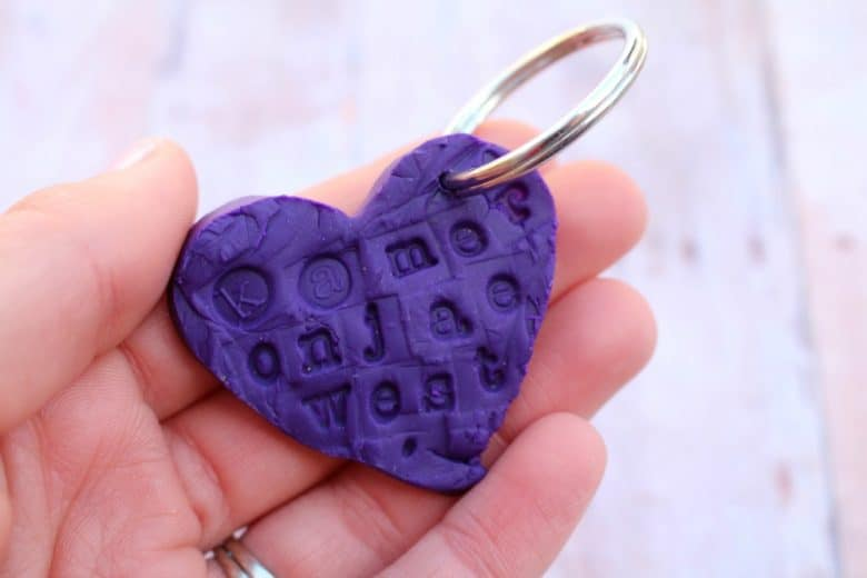 sculpey mother's day keychain