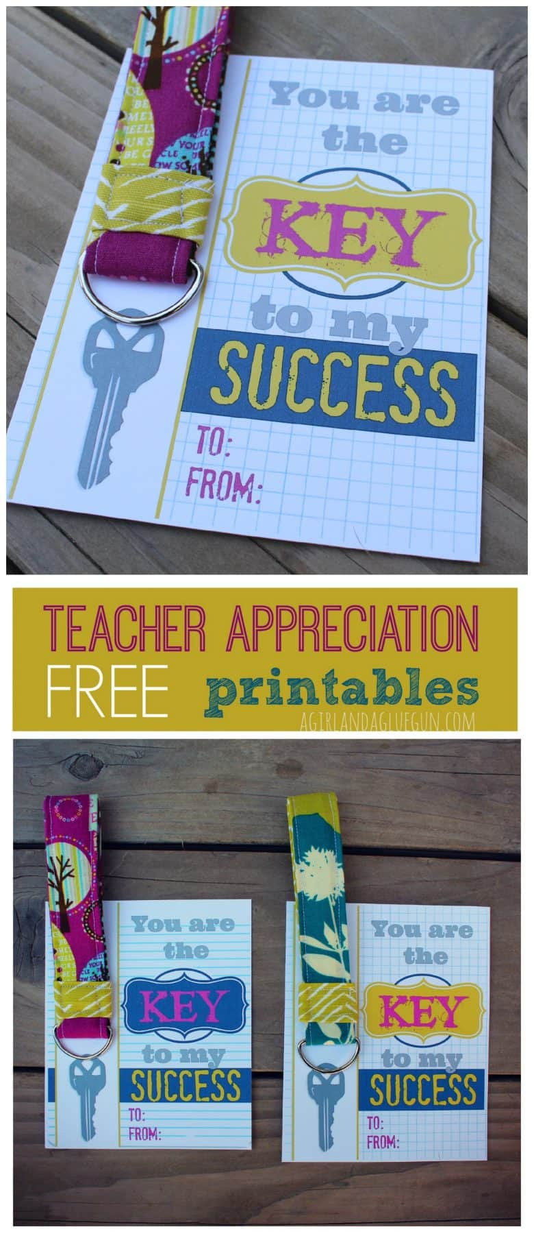 Key to my success free teacher printables with keychain What is a nice thank you gift