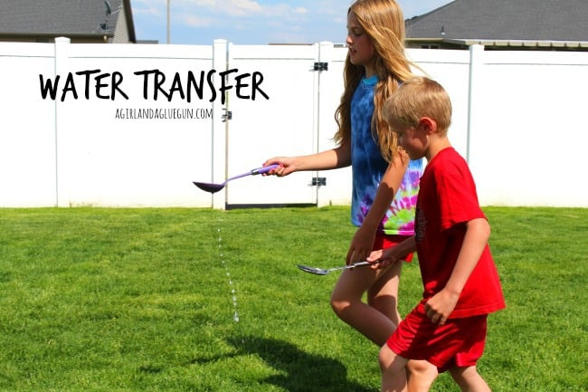 water transfer--fun summer games