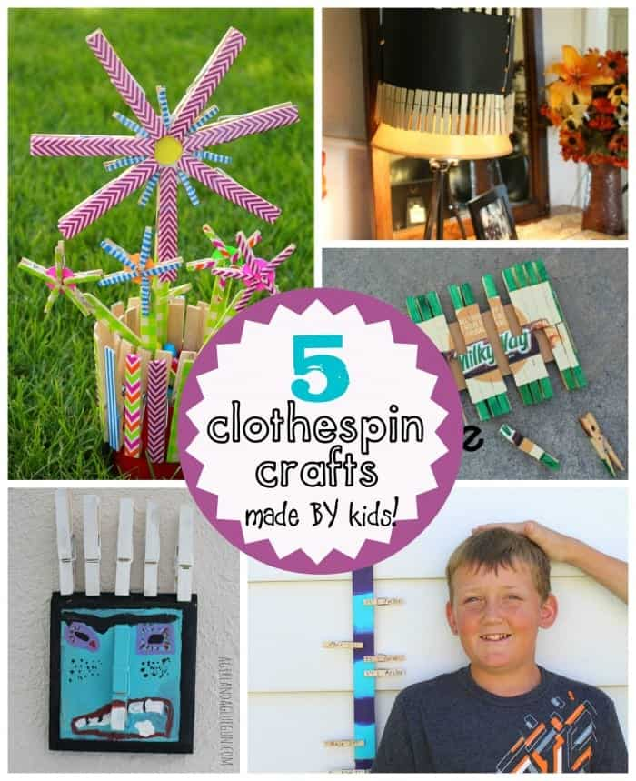 5 clothespin crafts made by kids (a girl and a glue gun)