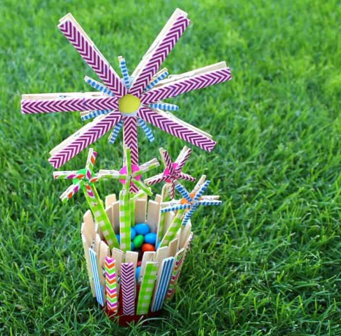 cassidy clothespin flowers