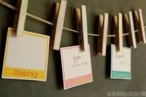 clothespin calendar–free printable!