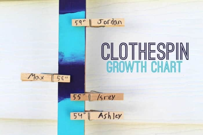 clothespin growth chart