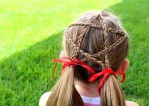 fourth of july STAR hair!