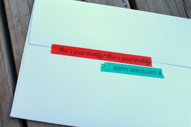 envelope with washi tape