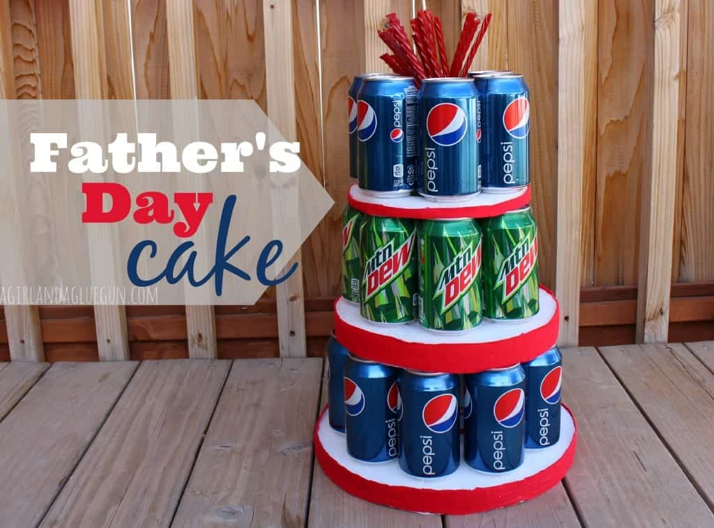 father's day cake made with soda pops
