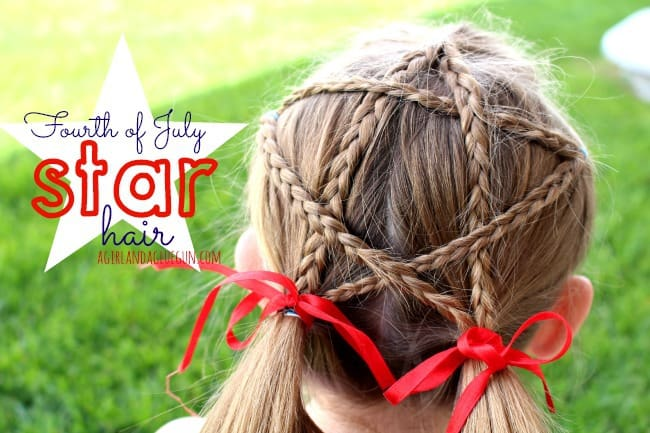 Fourth Of July Star Hair A Girl And A Glue Gun