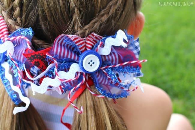 junque bows patriotic--a girl and a glue gun