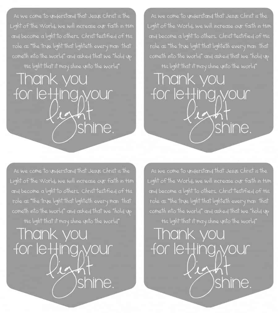 let your light shine printable