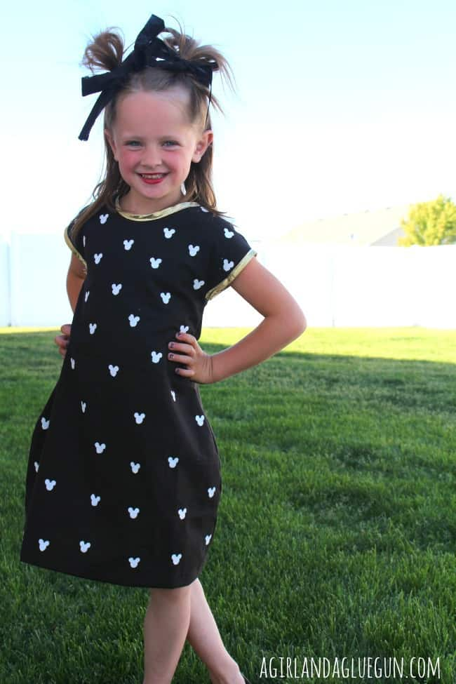 mickey mouse dress with silhouette