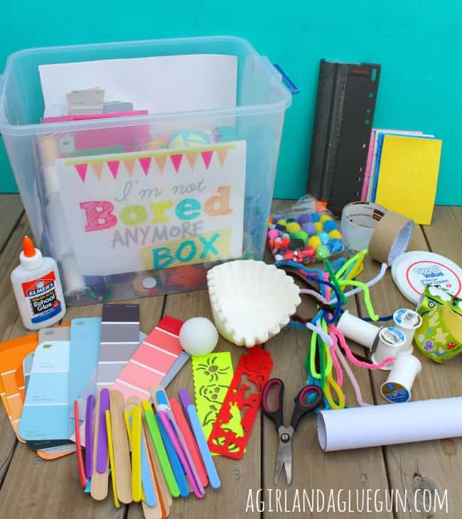 summer boredom box-a girl and a glue gun