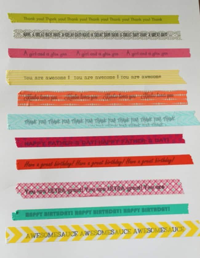 washi tape printable