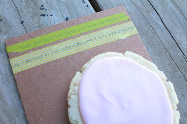 washi tape with words...easy diy
