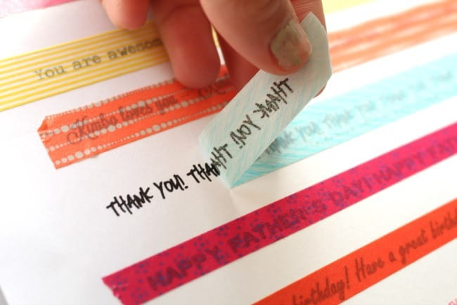 What To Do With Washi Tape get words on your washi tape!!! - a girl and a glue gun