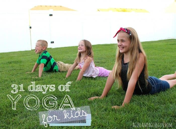 31 days of yoga FOR KIDS! a girl and a glue gun