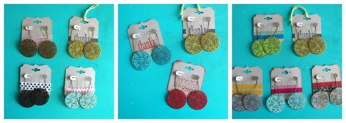 earrings decorated