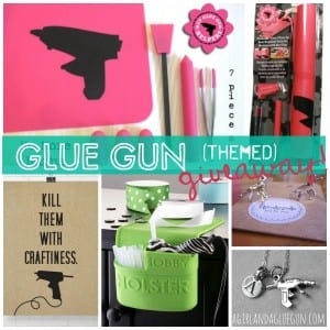 glue gun themed giveawy