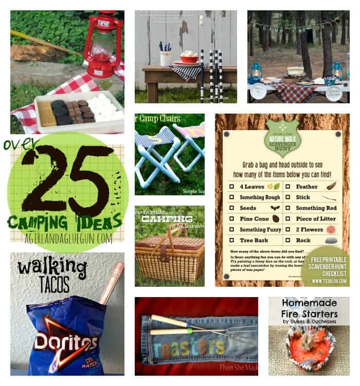 over 25 fun camping ideas