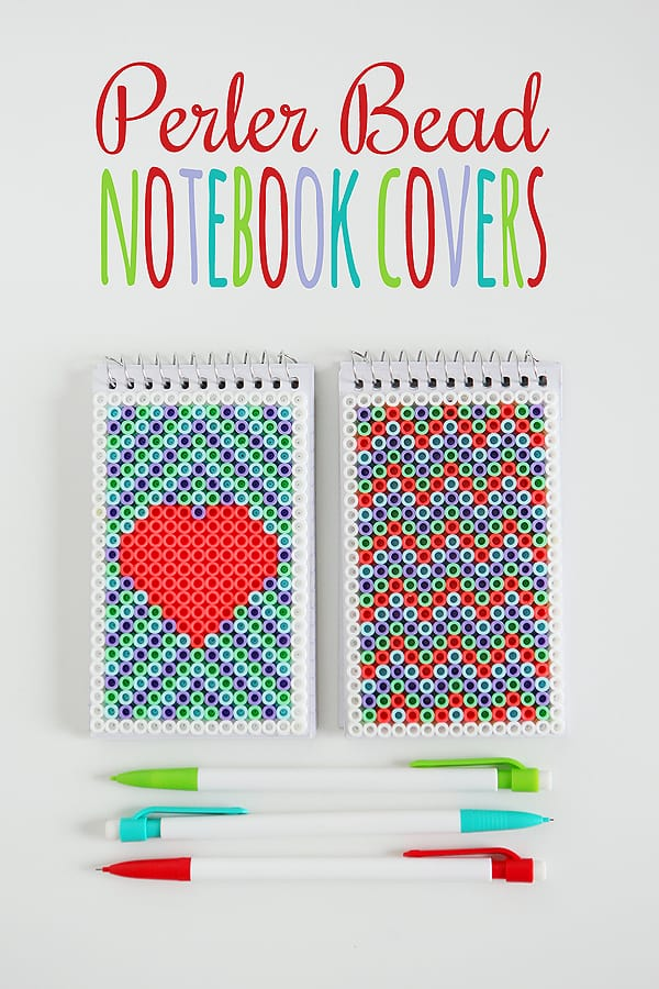 perler bead notebook covers