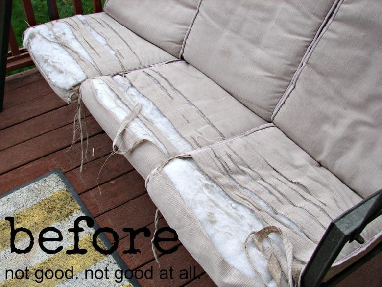 I bought some outdoor fabric from fabric comand recovered those suckers