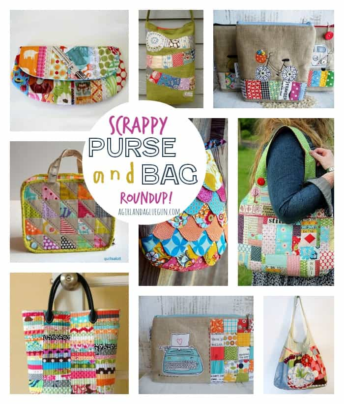 scrappy purse and bag roundup--a girl and a glue gun