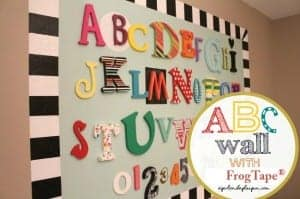 abc wall with frog tape