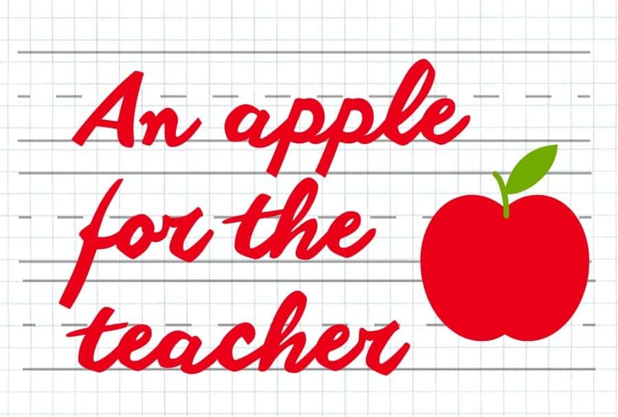 Apples For The Teacher Or You Or Me A Girl And A