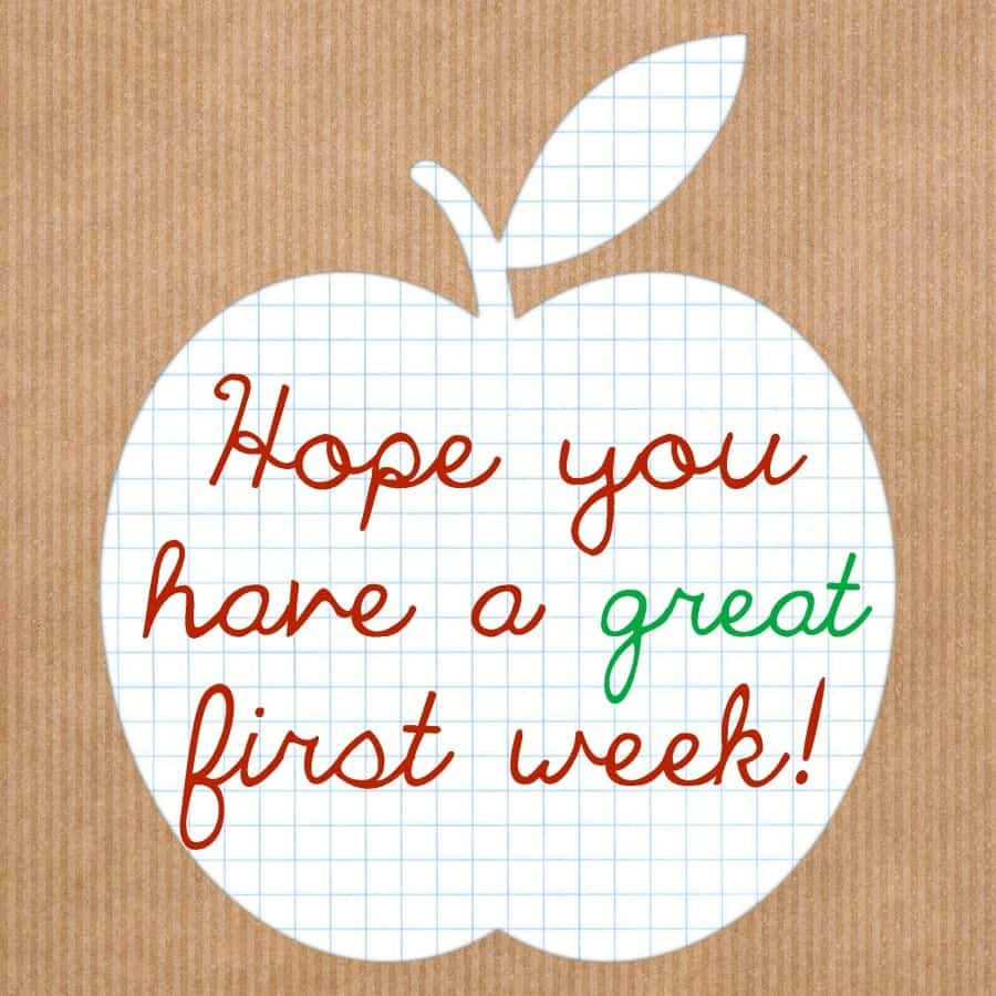 apple first week printable