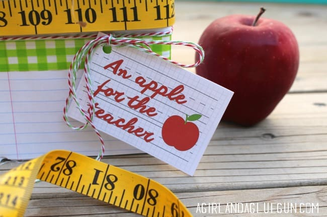 apple free printable tag
