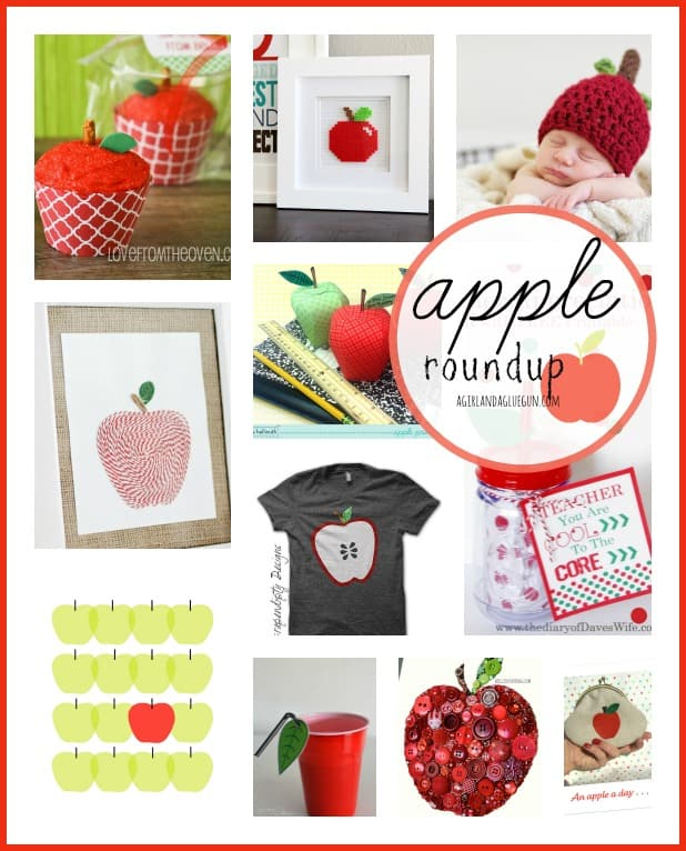 apple roundup a girl and a glue gun