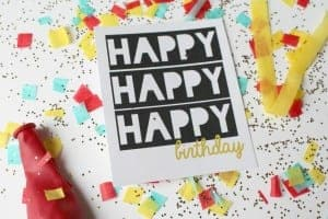 birthday printables