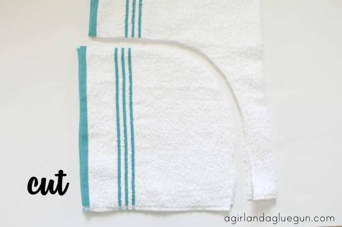 cut out hand towel
