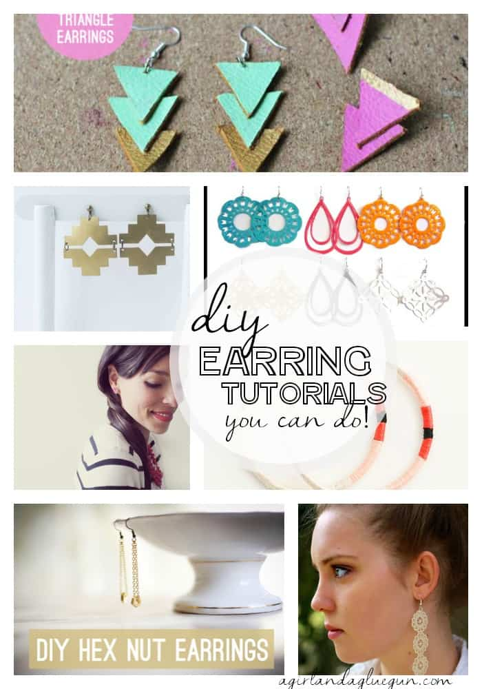 diy earring tutorials you can actually do! a girl and a glue gun