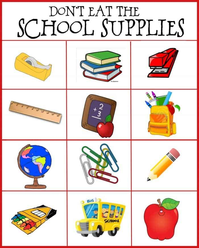 don't eat the school supplies