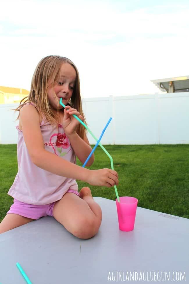 giant straw fun