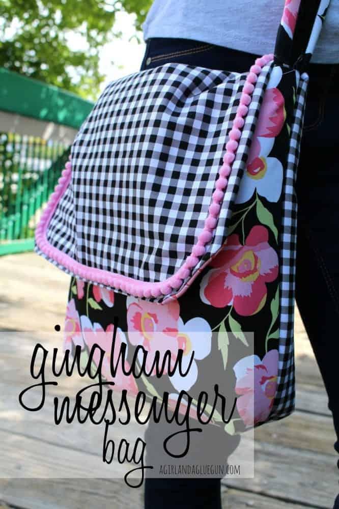gingham messenger bag 4