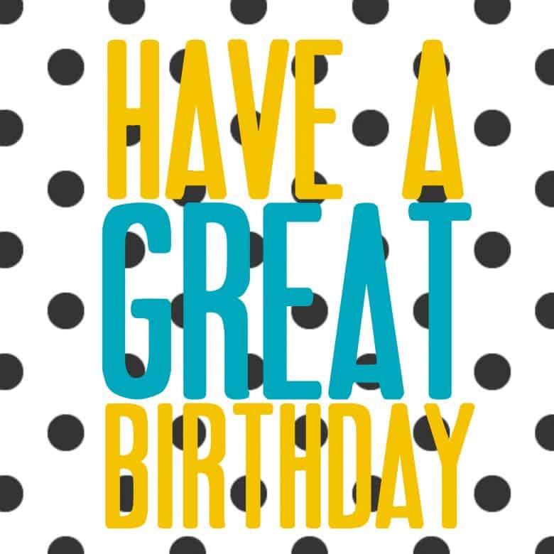 Free Printable Happy Birthday Cake Topper
