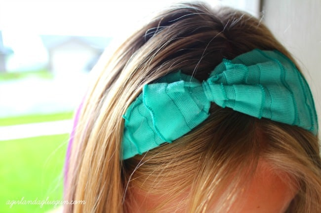 headband using ruffle fabric