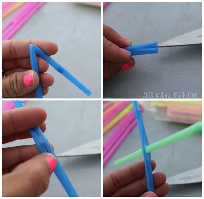 kid craft--straw building how to