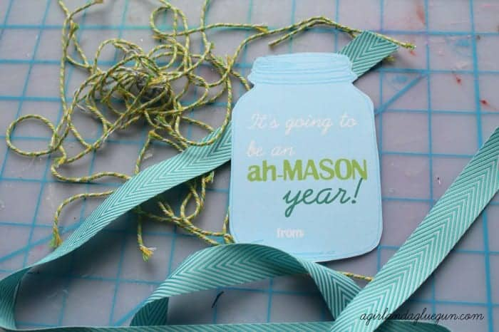 mason jar printables with ribbon