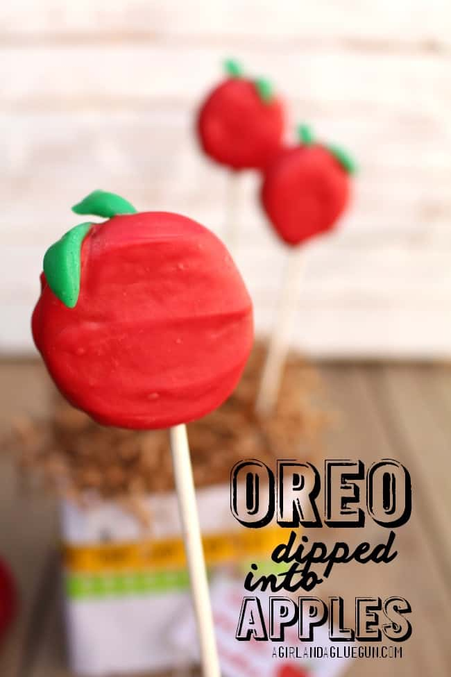 oreo dipped apples for teacher