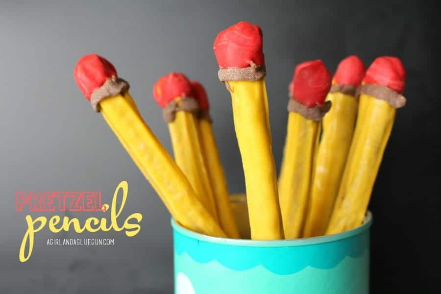 pretzels pencils for back to school