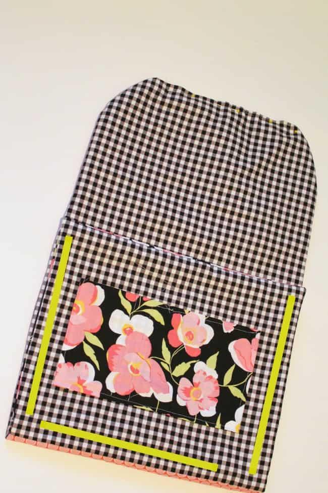 sew sides of bag