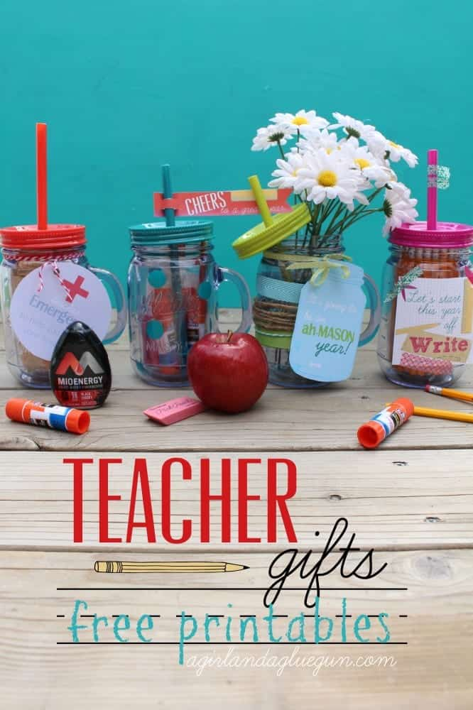 teacher gifts---with free printables--a girl and a glue gun