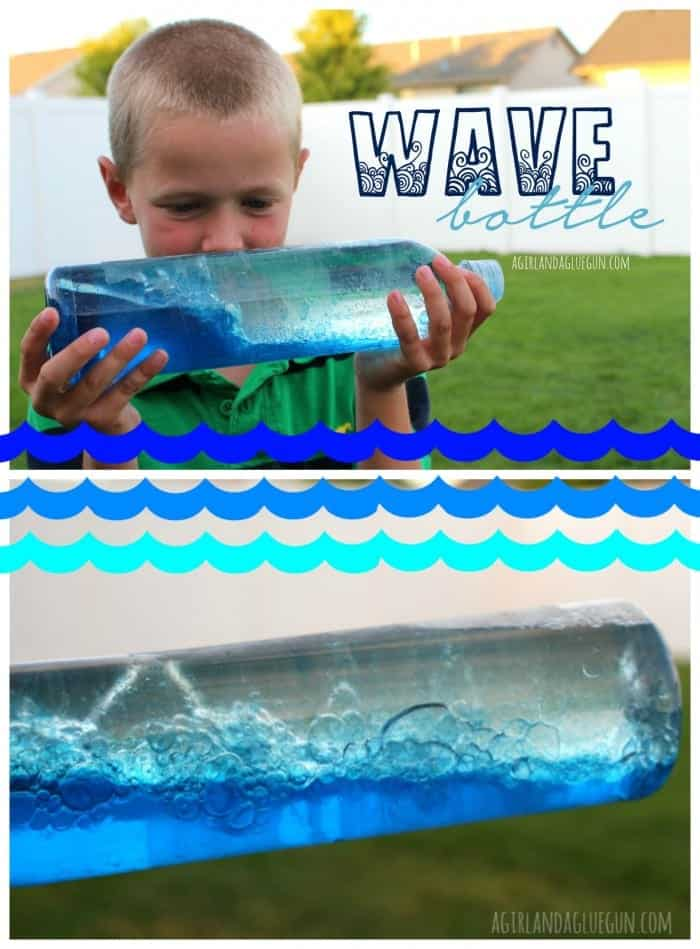 wave bottle --a girl and a glue gun